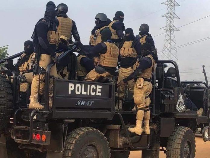 The SWAT team wore mask during the AWW by-election
