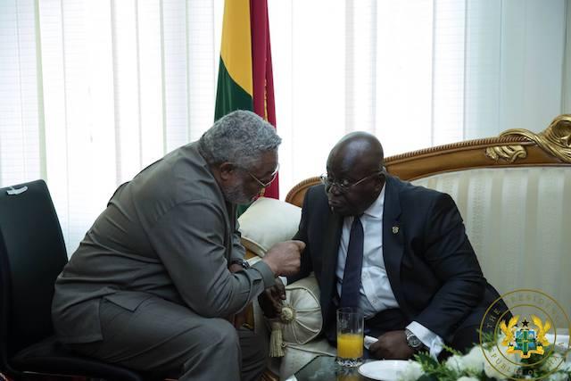 Rawlings in a tête-à-tête with President Nana Akufo-Addo