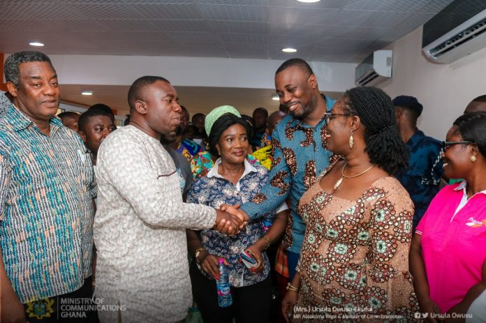 Ursula interacting with dignitaries at the event