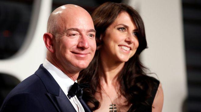 Amazon boss Jeff Bezos and wife MacKenzie
