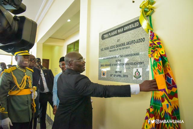 Bawumia commissioning a project at the GIS