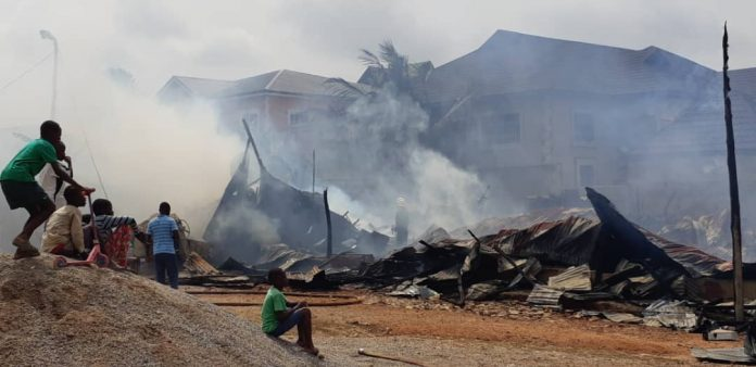 Part of the Calvary Charismatic Centre went up in flames on Easter Monday