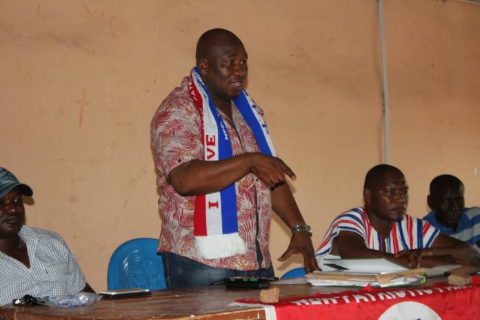 The Chiana-Paga Constituency chairman, Mohamud Adams Karimu, addressing the executives in Chiana on Friday.