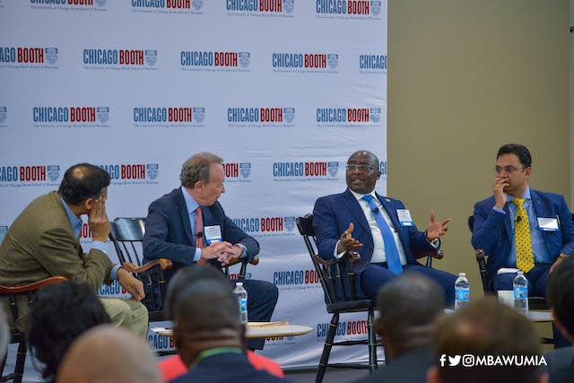 Dr Mahamudu Bawumia at the Chicago Booth session