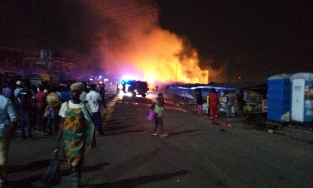 The fire at the Kumasi Central Market
