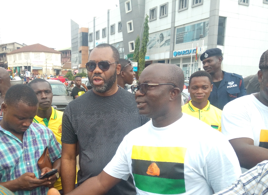 Manhyia South MP,  Dr Matthew Opoku Prempeh arriving at the Central Market