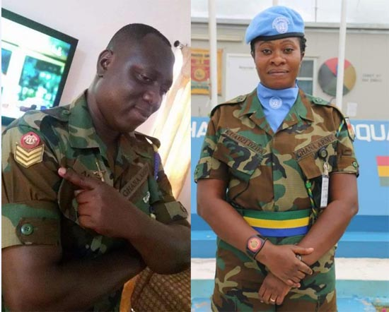 Staff Sergeant Arthur Jabez and Warrant Officer (WO) Sarah Kuadzi were killed in the flood with their child still missing
