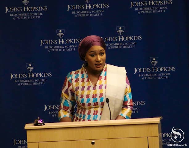 Samira Bawumia at Johns Hopkins