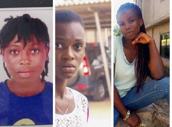 The three kidnapped Tardi girls