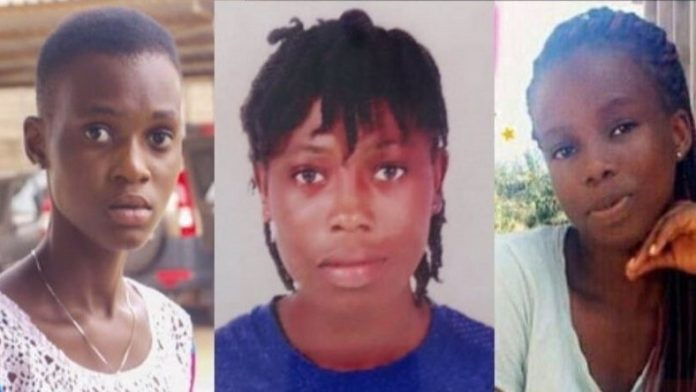 The three kidnapped girls