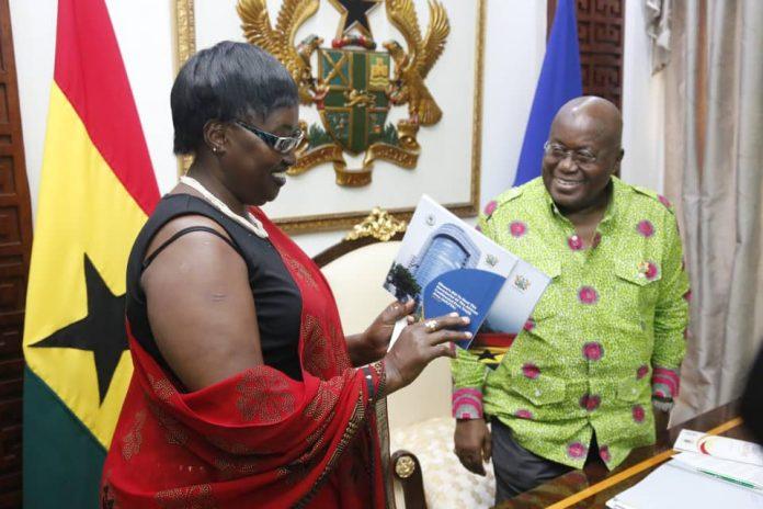 Akufo-Addo and the head of delegation Ambassador Rosette Nyirinkindi Katungye