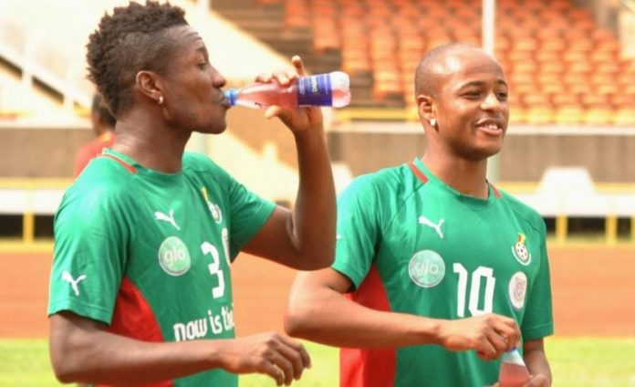 Asamoah Gyan and Dede Ayew are the two main stars in the Ghana team