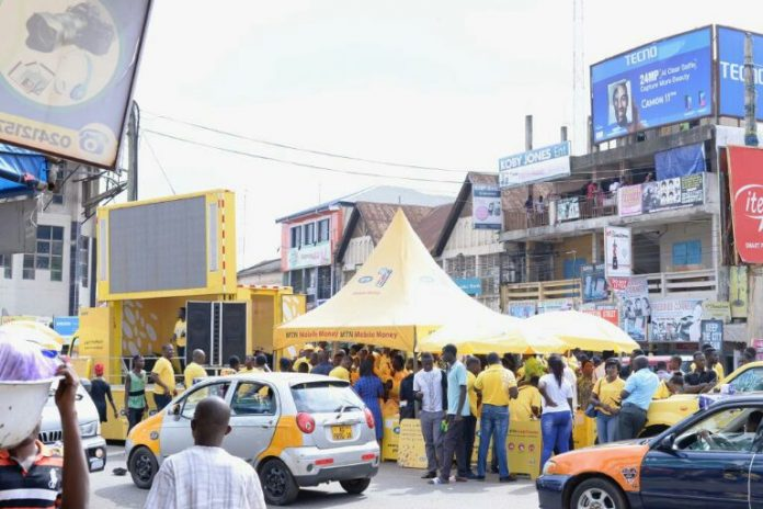 MTN set up at Adum, Kumasi during the Outreach