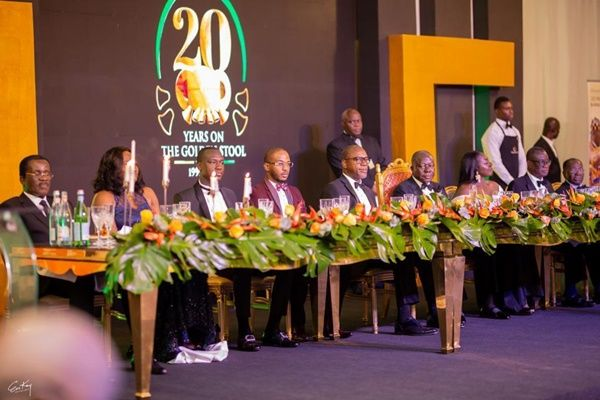 Otumfuo and other dignitaries on the high table