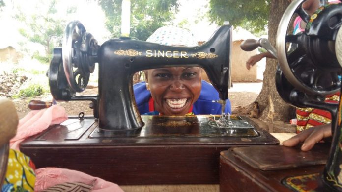 Singer machines used to teach sewing in Ghana