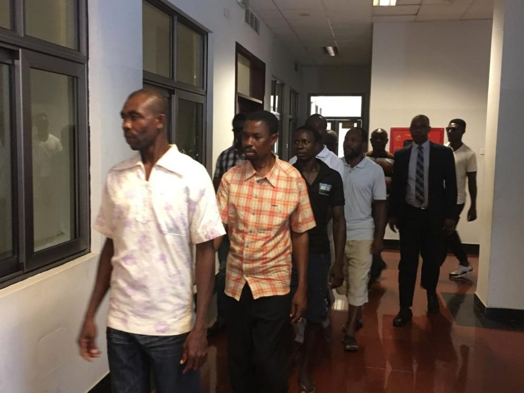 Eight of the separatists were in court in Accra