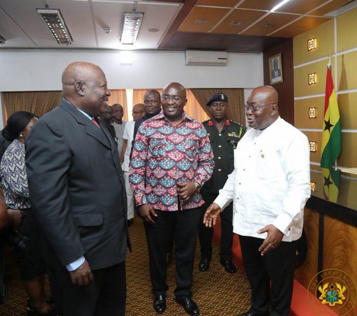 President Akufo-Addo and special prosecutor Martin Amidu
