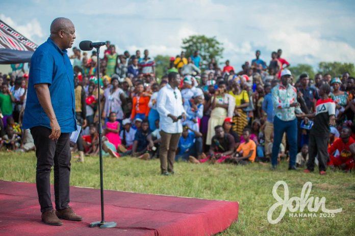 John Mahama and NDC supporters