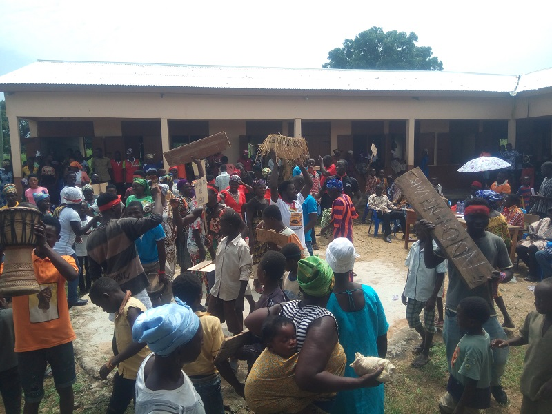 PHOTOS: Akufo Addo Faced With Massive Demonstration In Talensi 1