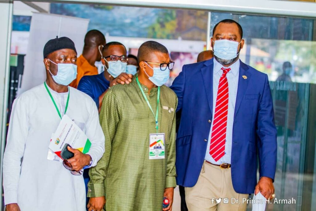 Dr Prince Hamid Armah with Napo (extreme right)