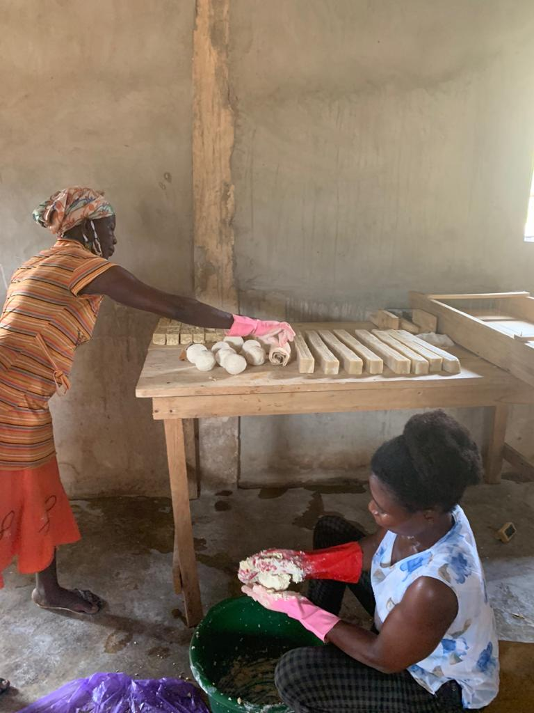 Dr. Yakong dedicated this year's International Women's Day to organising a soap-making training programme for deprived women in the Nabdam District.