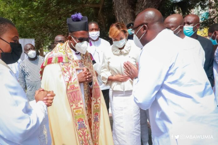Rt. Rev. Dr. Daniel S.M Torto with Dr Mahamudu Bawumia