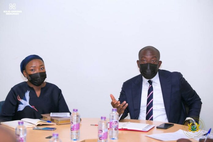 Kojo Oppong Nkrumah and Fati Abubakar