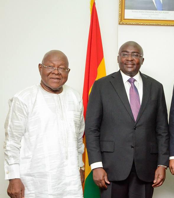 Prof Mike Oquaye and Dr Mahamudu Bawumia