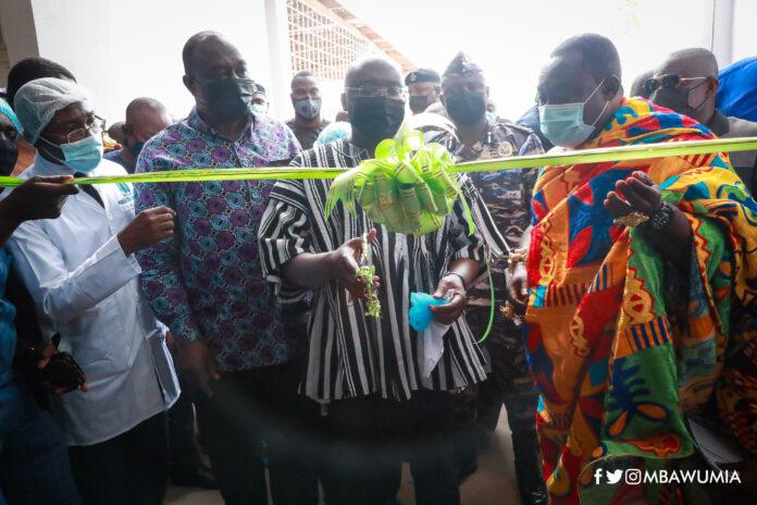 Dr Mahamudu Bawumia commissioning the factory