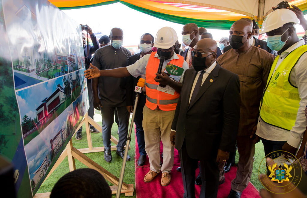 President Akufo-Addo speaking at the Law Village Project