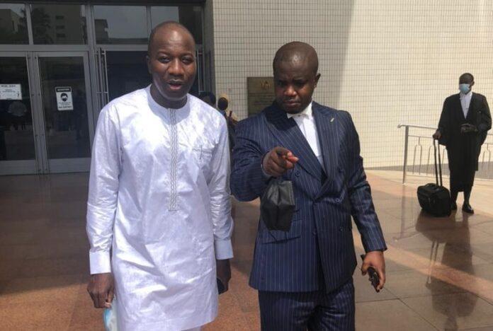 Mahama Ayariga and his lawyer lawyer Godwin Edudzi Tamakloe
