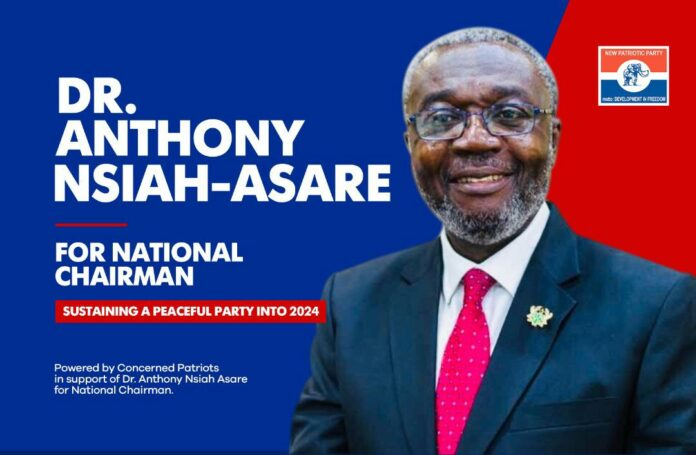 Poster of Dr Anthony Nsiah-Asare as National Chairman of NPP
