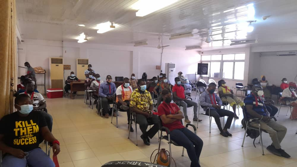 Members of the Ghana Association of Medical Laboratory Scientists at the presser
