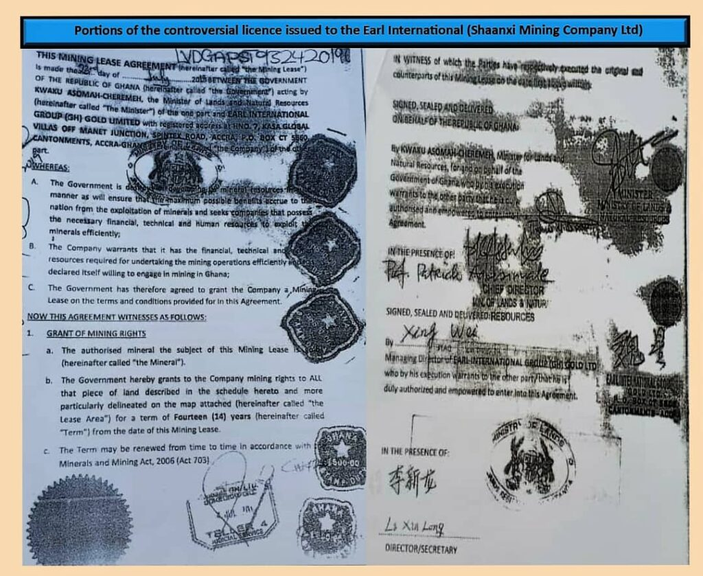 Portions of the controversial licence
