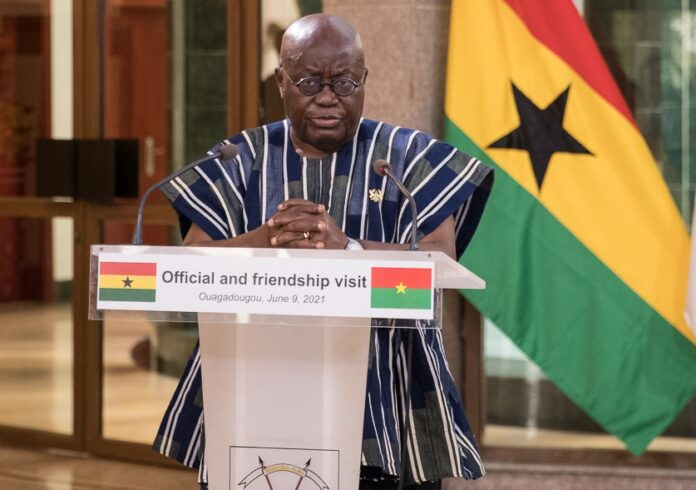 President Akufo-Addo addressing the press conference