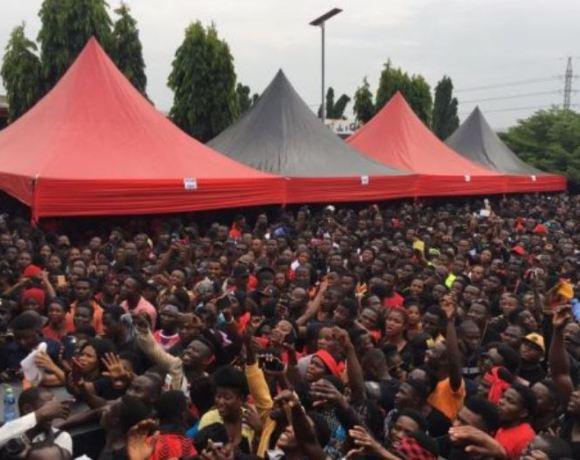 Large crowd at Sir John funeral