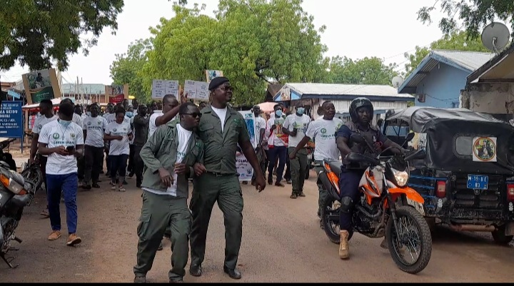A street march at Navrongo to mark the Green Ghana Day.