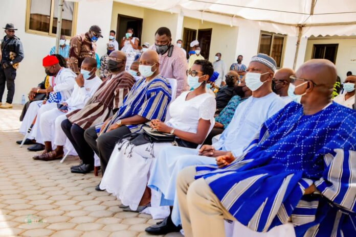 Dr Mahamudu Bawumia at the funeral of mom of Roland Agambire