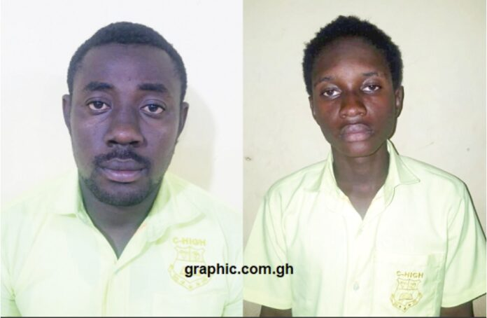 The convicts, Clement Sarfo and Desmond Oduro