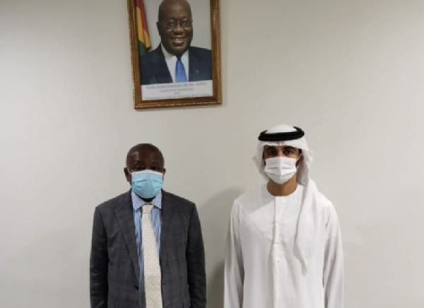 Kwaku Agyeman-Manu and Sheikh Al Maktoum