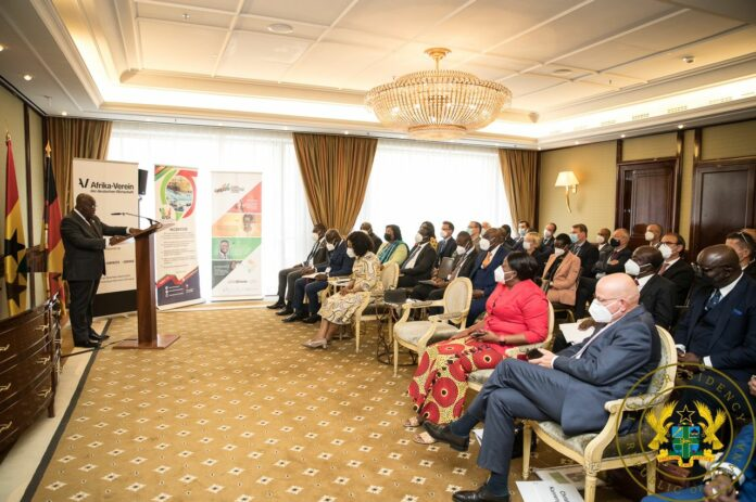 Akufo-Addo addressing the Ghana-German Business Forum