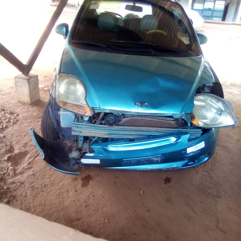 The driver left the accident scene with the car and parked it at his workplace.