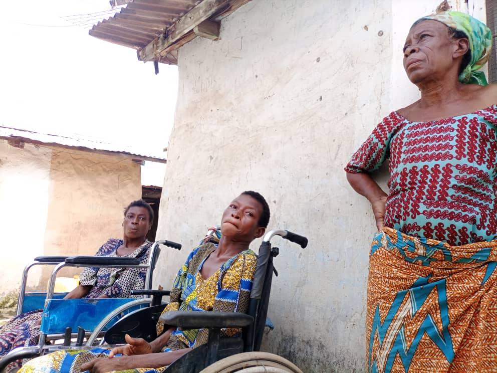 Madam Janet Nsoh Abotsi says the girls were not born disabled.
