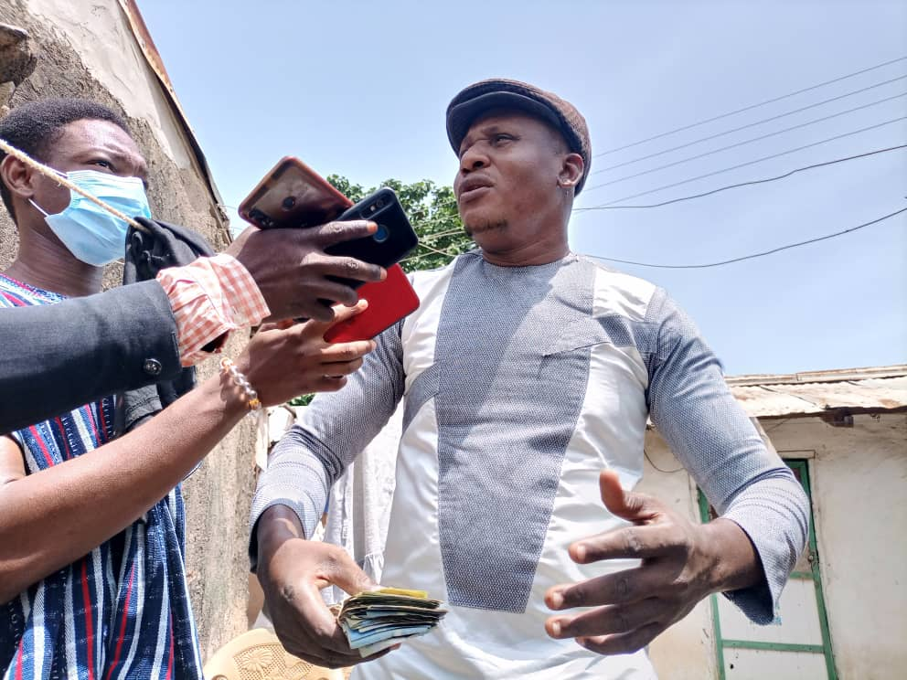 """Stephen Chidozie Ngamegbulam says he was motivated by his late father's advice to present the """"litte amount"""" he managed to gather to the poor family."""