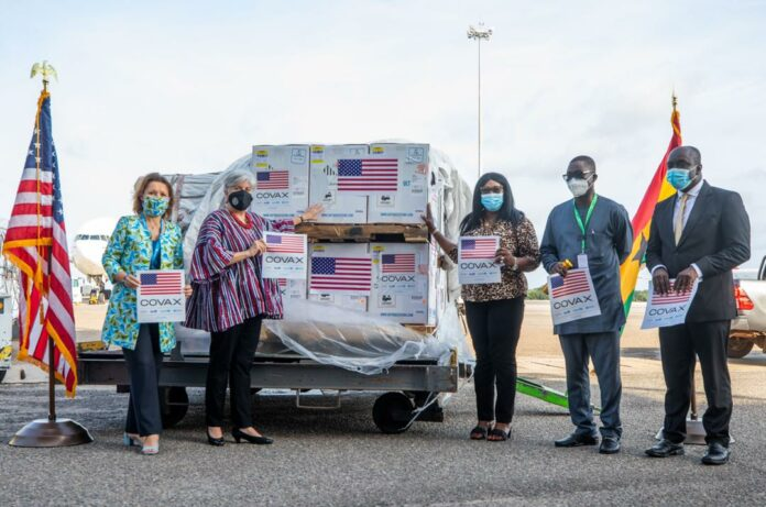 Arrival of Pfizer COVID-19 vaccines in Ghana